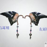 アキクサインコの翼イヤーフック