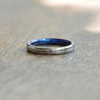 金属アレルギーの方 でも身につけられる結婚指輪ジルコニウム(ak-001-Zr)*店頭のみ販売*