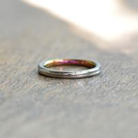 金属アレルギーの方 でも身につけられる結婚指輪ジルコニウム(ak-002-Zr)*店頭のみ販売*