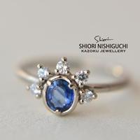 Sapphire Diamond Ring #11  (SAR-014 K18WGN)
