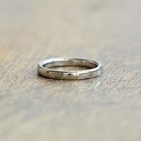 金属アレルギーの方 でも身につけられる結婚指輪ジルコニウム(ak-005-Zr)*店頭のみ販売*