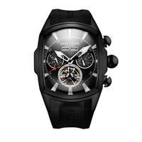 REEF TIGER 腕時計 リーフタイガー トゥールビヨン ラバーストラップ  機械式腕時計RGA3069-BBB