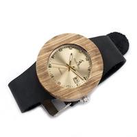 BOBO BIRD  木製腕時計 レディース クォーツ ゼブラウッド 本革バンド