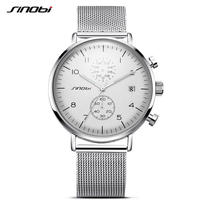 Sinobi  メンズ クォーツ腕時計 防水 超スリム
