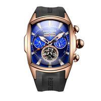 REEF TIGER 腕時計 リーフタイガー トゥールビヨン ラバーストラップ  機械式腕時計  RGA3069-PLB
