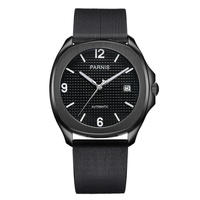 Parnis(パーニス ) 自動巻き サファイアブラック 機械式時計  ラバーバンド