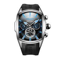 REEF TIGER 腕時計 リーフタイガー トゥールビヨン ラバーストラップ  機械式腕時計  RGA3069-YBBL