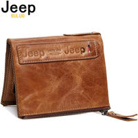 Jeep buluo 財布  レザー 本革 牛革 ビジネス メンズ