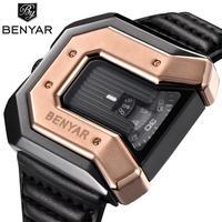 Benyar 腕時計 高級レザーストラップ