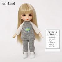 球体関節人形 BJD カスタムドール  1/8 人形かわいい樹脂フィギュアフルセット(ピンクの羊、髪のゴムは付属していません)