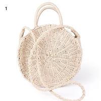カゴバックartmomo レディース 手作り籐織 ハンドバッグ ビッグサイズ