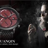 Guanqin 腕時計 クロノグラフクォーツ メンズ