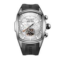 REEF TIGER 腕時計 トゥールビヨン ラバーストラップ  機械式腕時計  RGA3069-YWB