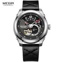 Megir 機械式腕時計  レザーストラップ