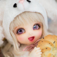 球体関節人形 本体+眼球+メイクアップ済 BJD カスタムドール 女の子 かわいい プリンセスドール 幼SDサイズ 1/8