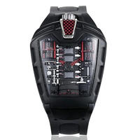 KIMSDUN 腕時計 クォーツ シリコンストラップ