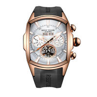 REEF TIGER 腕時計 トゥールビヨン ラバーストラップ  機械式腕時計  RGA3069-PWB