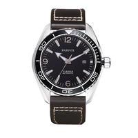 Parnis(パーニス ) メンズ 機械式腕時計 防水 レザー