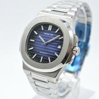 PETER LEE 腕時計 ノーチラスっぽい時計 クラシック 機械式 ステンレス