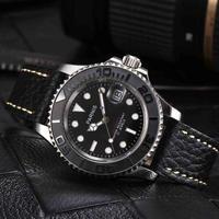 Parnis(パーニス ) 機械式腕時計 防水 レザー