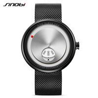 Sinobi  メンズ クォーツ腕時計 ミラノストラップ 防水