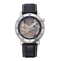 スケルトン 自動機械式腕時計 レザーストラップ メンズ Curve BS