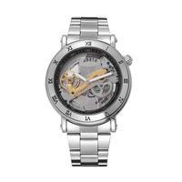 スケルトン 自動機械式腕時計 ステンレス メンズ SS