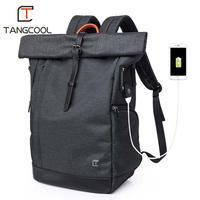 男性のバックパック 15.6 インチのノートパソコンの USB 大容量ファッション Stundet バックパック撥水リュックサック