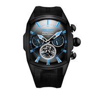 REEF TIGER 腕時計 リーフタイガー トゥールビヨン ラバーストラップ  機械式腕時計  RGA3069-BBBL