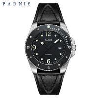 Parnis(パーニス )機械式腕時計 防水 回転セラミックベゼル メンズ