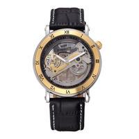 スケルトン 自動機械式腕時計 レザーストラップ メンズ BG
