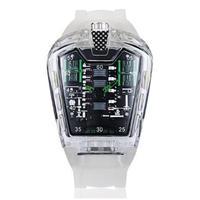 KIMSDUN メンズ クォーツ腕時計 シリコンストラップ K-725-7 ホワイトグリーン