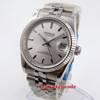 Parnis(パーニス )  自動機械式時計 メンズ ハイエンドオマージュ 新作デイトジャストスタイル 高級 ムーブメント サファイアガラス搭載