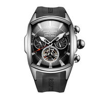 REEF TIGER 腕時計 リーフタイガー トゥールビヨン ラバーストラップ  機械式腕時計  RGA3069-YBB
