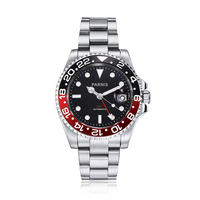 Parnis(パーニス ) 機械式腕時計 セラミックベゼル GMT