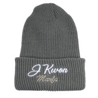 J Kwon Knit Cap Grey