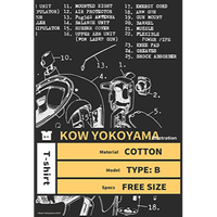Kow yokoyama  Maschinen Krieger exhibition  limited  T-shirt TYPE:B