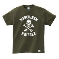 "Ma.K Tシャツ ""スカル SKULL "" アーミーグリーン(GREEN)"