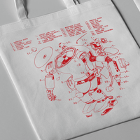 Kow yokoyama  Maschinen Krieger exhibition  Tote bag TYPE:A