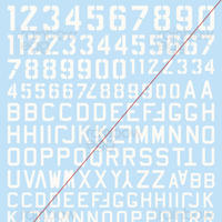 Ma.K. CODE LETTERS DECAL SET  (WHITE)