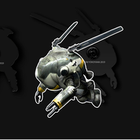 【送料無料】Kow yokoyama  Maschinen Krieger exhibition Metal Pins TYPE:B