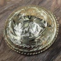真鍮 コンチョ 洋彫り ネジ式