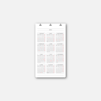 DL SERVICE D3 Calendar 2021(新祝日版)