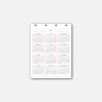 DL SERVICE D4 Calendar 2021(新祝日版)