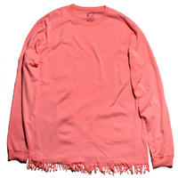 FRINGE LONG TEE (CORAL)
