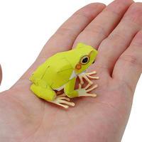 あまがえる(ハガキサイズ):Japanese Tree Frog(紙工作キット)
