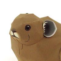 ナキウサギ:Pika   (紙工作キット)