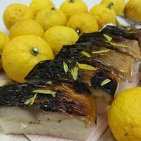 「ゆず醤油漬け」焼き鯖寿司 7切