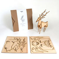 鹿のウッドクラフト(国産材)