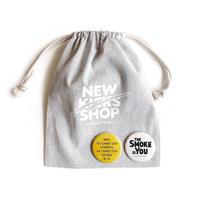 NEW KICKS SHOP 巾着 + SMOKE BADGE